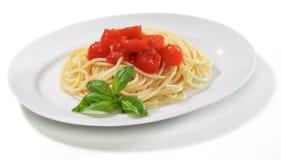 Italian pasta -Spaghetti with tomato sauce Royalty Free Stock Image