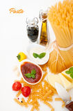Italian Pasta with spices Royalty Free Stock Image