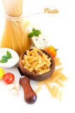 Italian Pasta with spices Stock Photos