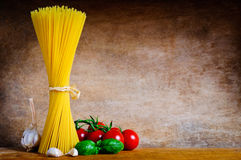 Italian pasta still life Stock Photos
