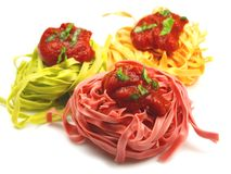 Italian pasta tagliatelle Stock Photography