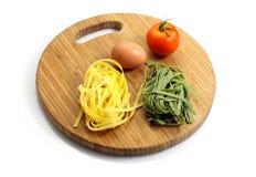 Italian pasta tagliatelle Royalty Free Stock Photos