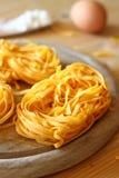 Italian pasta tagliatelle Royalty Free Stock Image