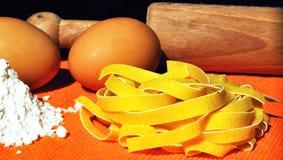Italian pasta - Tagliatelle Stock Images