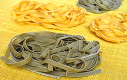Italian pasta tagliatelle Stock Photos