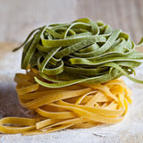 Italian pasta tagliatelle Royalty Free Stock Images