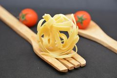 Italian pasta tagliatelle. Italian food tomato Stock Image