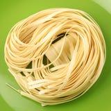 Italian pasta tagliatelle nest Royalty Free Stock Photo
