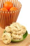 Italian pasta tagliatelle nest Royalty Free Stock Images