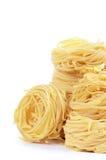 Italian pasta tagliatelle nest Royalty Free Stock Photography