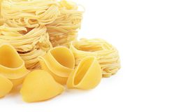 Italian pasta tagliatelle nest Royalty Free Stock Image