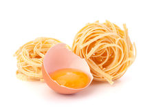 Italian pasta tagliatelle nest Royalty Free Stock Photography