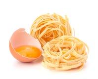 Italian pasta tagliatelle nest Stock Images