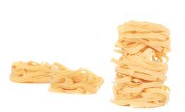 Italian pasta tagliatelle nest. Stock Photos