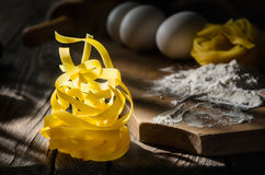 Italian pasta tagliatelle Royalty Free Stock Photo