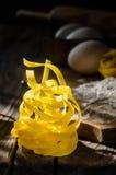 Italian pasta tagliatelle Stock Photos