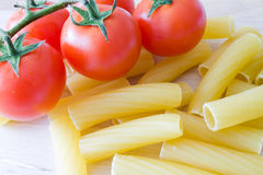 Italian pasta and tomato Royalty Free Stock Photo