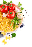Italian pasta with tomato and champignons Royalty Free Stock Photography