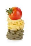 Italian pasta with tomato cherry on top Stock Photo