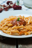 Italian pasta with tomato Royalty Free Stock Images