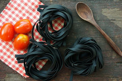 Italian pasta with tomato prepare for cooking Royalty Free Stock Photography