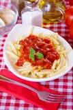 Italian pasta with tomato sauce Royalty Free Stock Photos