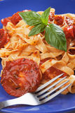 Italian pasta with tomato sauce Stock Photos