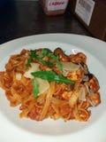 Spaghetti. Italian pasta tomato sauce al dente royalty free stock image
