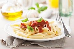 Italian pasta with tomato sauce Stock Image