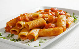 Italian pasta with tomato sauce Stock Photography