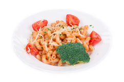 Italian pasta with tomato sauce Stock Images