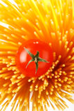 Italian Pasta with tomatoes royalty free stock image