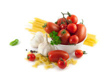 Italian pasta with tomatoes Royalty Free Stock Photos