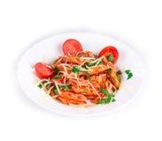 Italian pasta and tomatoes Royalty Free Stock Image