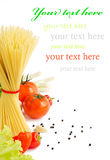 Italian Pasta with tomatoes,garlic Stock Photography