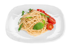 Italian pasta with tomatoes. Stock Photos