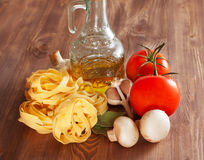 Italian Pasta with tomatoes Stock Photography