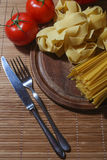 Italian Pasta with tomatoes Royalty Free Stock Photography