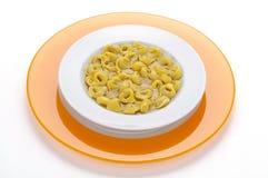 Italian pasta ,tortellini in broth Stock Image