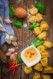 Italian pasta tortellini Stock Photography