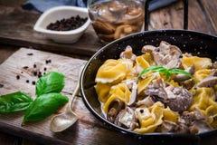 Italian pasta tortellini Royalty Free Stock Images