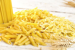 Italian pasta uncooked Royalty Free Stock Photography