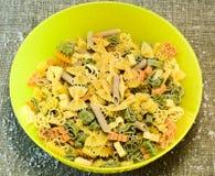 Italian pasta. Variety of types and shapes of dry Italian pasta Royalty Free Stock Image