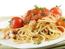 Italian pasta with vegetables Stock Photo