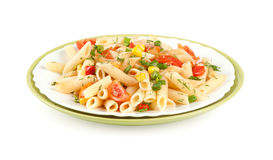 Italian pasta with vegetables Royalty Free Stock Photography