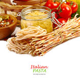 Italian Pasta with vegetables Stock Photo