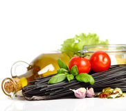 Italian Pasta with vegetables Stock Photography