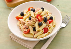 Italian pasta with vegetables and tuna Stock Images