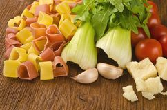 Italian pasta with vegetables Royalty Free Stock Photo