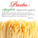 Italian pasta on the white background. Royalty Free Stock Photo